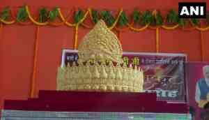 Varanasi: To mark PM Modi's birthday, fan offers 1.25 kg gold crown at Sankat Mochan Temple
