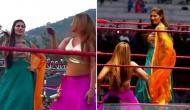 WWE के रिंग में सपना चौधरी ने लगाए ठुमके, सोशल मीडिया में धूम मचा रहा है वीडियो