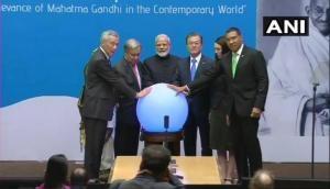 PM Modi inaugurates 'Gandhi Solar Park' at UN headquarters