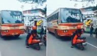बीच सड़क में इस महिला ने बस ड्राइवर को सबके सामने सबक, सोशल मीडिया पर वायरल हुआ वीडियो
