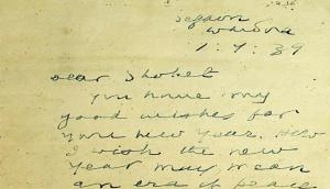 Mahatma Gandhi's 80-year-old letter wishing Jews