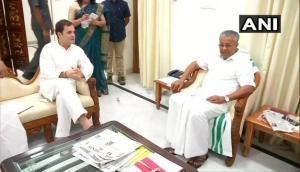 Rahul Gandhi meets Kerala CM Pinarayi Vijayan in Delhi