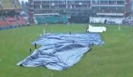 Rain interrupts match between India and South Africa