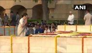 Sonia Gandhi, JP Nadda pay tribute at Rajghat on Mahatma Gandhi's 150th birth anniversary