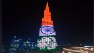 Tribute to Mahatma Gandhi: Burj Khalifa lit up with Bapu's images on his 150th birth anniversary