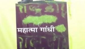 MP: Gandhi's poster defaced, his remains kept in urn stolen from Rewa Museum