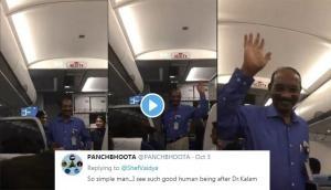 Epic moment! Passengers welcome ISRO chief K Sivan in flight; Netizens call him 'real hero'