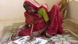 MP: Paintings of 80-year-old tribal woman on exhibit in Italy