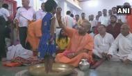 UP: CM Yogi Adityanath performs 'Kanya Pujan' at Gorakhnath Temple on Mahanavami