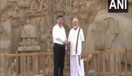 Wearing veshti, PM Modi receives Xi Jinping in Mahabalipuram