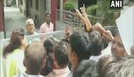 Bihar Floods: Locals protest outside Deputy CM residence in Patna