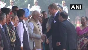 Dutch King, Queen meet President Kovind, PM Modi