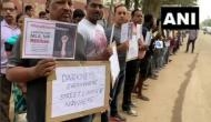 Bengaluru: Residents stage protest against authorities for lack of proper infrastructure