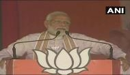 PM Modi keeps up attack on Congress on issue of Article 370