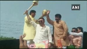 Haryana Polls: Sunny Deol campaigns for state minister Om Parkash Dhankar in Jhajjar