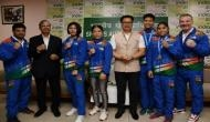 Sports Minister Kiren Rijiju felicitates Indian women boxers