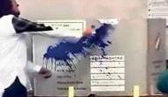 बसपा नेता ने मतदान के दौरान EVM पर फेंकी स्याही, बैलेट पेपर से चुनाव के लिए की नारेबाजी