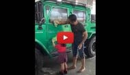 MS Dhoni along with daughter Ziva Dhoni cleans new jeep; video will make you say 'best father-daughter jodi'