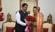 CM Devendra Fadnavis meets Maharashtra Guv Bhagat Singh Koshyari at Raj Bhavan