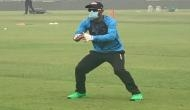 Delhi T20I: Amidst pollution concerns, Bangladesh's Liton Das trains in a mask