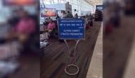 Confusing signboard at Chennai airport leave travellers perplexed