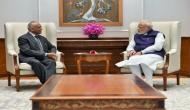 Delhi: Ladakh LG RK Mathur meets PM Modi