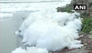 Delhi Pollution leads to formation of foam on river Yamuna