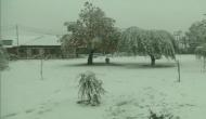Heavy snowfall across Kashmir, highway closed