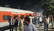 लखनऊ मेल के एसी कोच में लगी आग, यात्रियों में मची अफरा तफरी