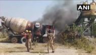 उन्नाव: जमीन अधिग्रहण मामला, मुआवजे को लेकर किसानों का प्रदर्शन, सब स्टेशन में लगाई आग