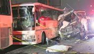 मैक्सिको: तीन बसों की जबरदस्त भिड़ंत, 13 लोगों की दर्दनाक मौत