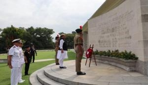 Rajnath Singh visits Kranji War Memorial in Singapore, pays tribute to those died during WW-II