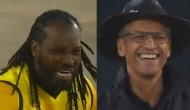 Watch: Chris Gayle cries like baby after umpire signals not out during MSL match