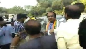 [Video]: Bengal BJP Vice President 'manhandled', 'kicked' by TMC workers