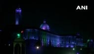 Parliament, Rashtrapati Bhawan illuminated on eve of Constitution Day