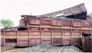 Madhya Pradesh: Goods train derails at Ratlam station