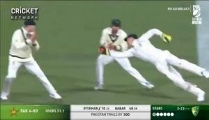 ऑस्ट्रेलियाई कप्तान ने सुपरमैन बन पकड़ा शानदार कैच, देखता रहा गया पाकिस्तानी बल्लेबाज