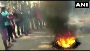 Anti-CAB bandh: Agitators set market on fire in Tripura