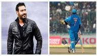 Tanhaji actor Ajay Devgn looks dashing with MS Dhoni in this viral picture; netizens say 'two legend in one frame