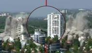 Video: केरल में ब्लास्ट की आई आवाज और देखते ही देखते धूल में मिल गई 18 मंजिला बिल्डिंग