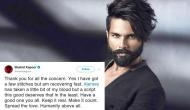 Shahid Kapoor on Jersey injury: 'I'm recovering fast'