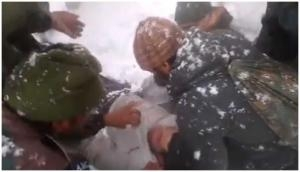 Jammu-Kashmir: Video of Army men rescuing civilian from avalanche goes viral