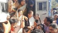 Ex Lok Sabha Speaker Sumitra Mahajan detained for protesting in front of Indore Collectorate