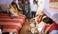 दिल्ली: चुनाव प्रचार के बीच जब अचानक BJP कार्यकर्ता के घर भोजन करने पहुंचे अमित शाह