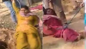 पश्चिम बंगाल: ममता राज में महिलाओं से दरिंदगी, TMC नेता ने रस्सी से बांधकर सड़क पर खिंचवाया