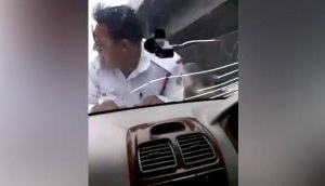Shocking Video: Man drags Delhi traffic constable on car's bonnet for 2 km
