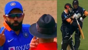 NZ vs IND 2nd ODI: न्यूजीलैंड के बल्लेबाज ने की 'बेइमानी' तो भड़के विराट कोहली, अंपायर से हुई बहस