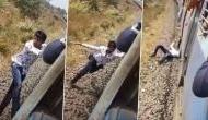 Video: TikTok बनाने के चक्कर में चलती ट्रेन से फिसला, देखकर लोगों की निकल गई चीख