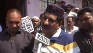 Congress MLA Arif Masood distributes posters reading 'No CAA, No NPR, No NRC' in Bhopal