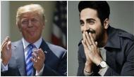 Shubh Mangal Zyada Saavdhan star Ayushmann Khurrana reacts to Donald Trump's tweet for film